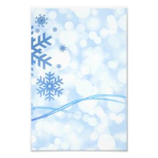 Feiertags-Weihnachtsschneeflocke-Entwurfs-blaues W Fotografien