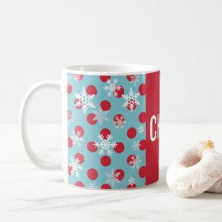 Feiertags-Winter wünscht Schneeflocke-Party-Tasse Kaffeetasse