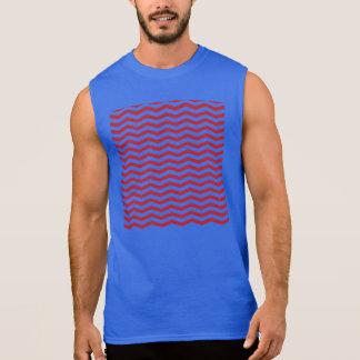 Feiertags-Zickzack-Muster des Effekt-3D rotes Ärmelloses Shirt