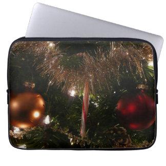 Feiertags-Zuckerstange des Weihnachtsbaum-II und Laptopschutzhülle