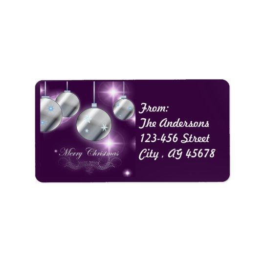 Feiertagsverzierung lila Weihnachten Adressetiketten