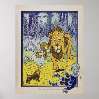 Feige Löwe-Zauberer- von Ozbuch-Seite Poster