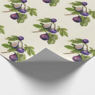 Feigen-Druck-WeihnachtsPackpapier - traditionell Geschenkpapier