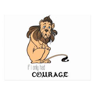 """Feiger Löwe: """"Wenn ich hatte nur Mut """" Postkarte"""