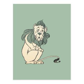 Feiger Löwe, Zauberer von Oz Postkarte