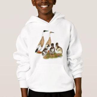 Fein gezeichnet Läufer-Enten-Familie Hoodie