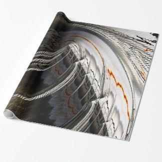 Feine Fraktal-Kunst GebirgskletternsBrago-Mitchell Geschenkpapierrolle