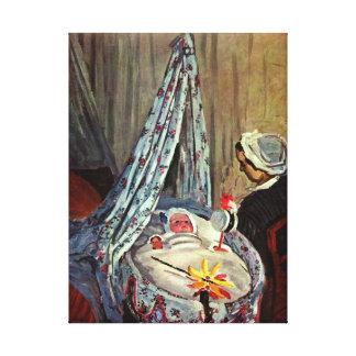 Feine Kunst-Druck Baby-Jeans Monet auf Leinwand
