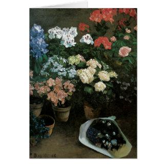 Feine Kunst-mit BlumenMitteilungskarten Karte