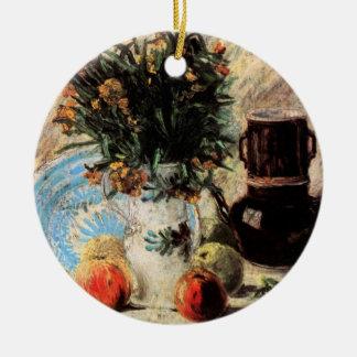 Feine Kunst Van Gogh, Blumen, Kaffeekanne und Keramik Ornament