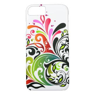 Feine niedliche coole Girly Retro Blumenmode iPhone 7 Hülle