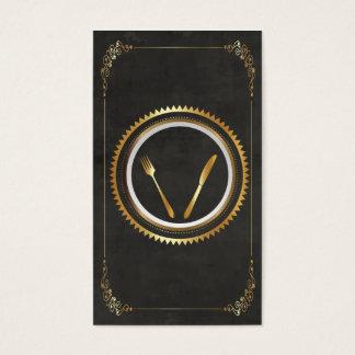 Feine speisende Visitenkarte-Schablonen-noble Visitenkarte