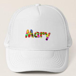 Feine weiße Maschen-Kappe für Mary Truckerkappe