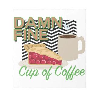 Feiner Kaffee u. Torte Notizblock