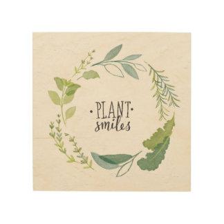 Feines Pflanzen-Lächeln der Kraut-II | Holzleinwand