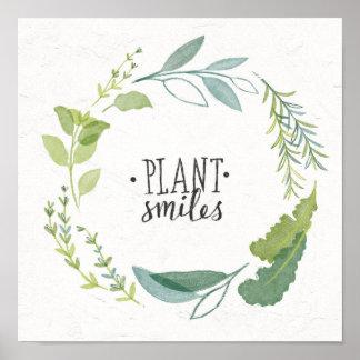 Feines Pflanzen-Lächeln der Kraut-II | Poster