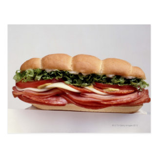Feinkostgeschäftsandwich Postkarte