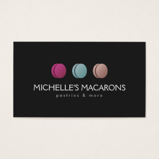 Feinschmeckerische Franzosen Macaron Visitenkarte