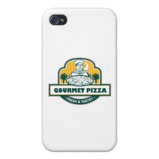 Feinschmeckerisches Pizza-Kochpalmetto-Baum-Schild Hülle Fürs iPhone 4