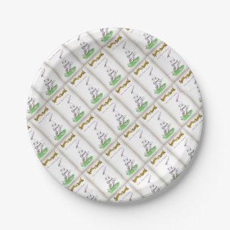 Feinster Puddings Liebe-Yorkshire-Krickets ' Pappteller