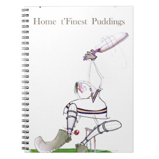 Feinster Puddings Liebe-Yorkshire-Krickets ' Spiral Notizblock