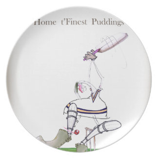 Feinster Puddings Liebe-Yorkshire-Krickets ' Teller