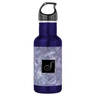 Feisty Monogramm-Lavendel-lila Spritzer | des Trinkflasche