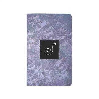 Feisty Monogramm-lila lila Spritzer | des Büro-| Taschennotizbuch