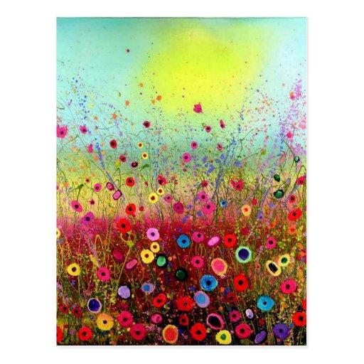Feld-Blumen Postkarte