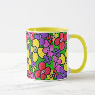 Feld der Blumen -- 3 Tasse