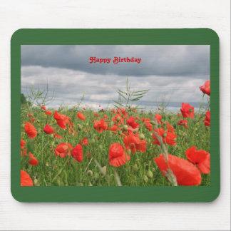 """Feld der Blumen """"alles Gute zum Geburtstag"""" Mousepad"""