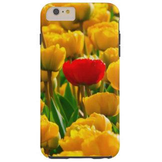 Feld der Blumen-, Roten und Gelbentulpen Tough iPhone 6 Plus Hülle