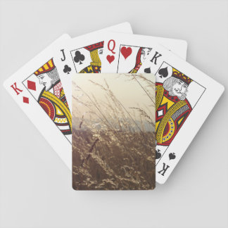 Feld der Gras-Spielkarten Spielkarten