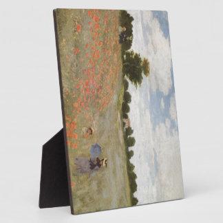Feld der Mohnblumen Claude Monet Fotoplatte