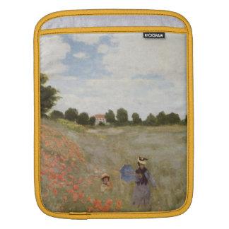 Feld der Mohnblumen Claude Monet iPad Sleeve