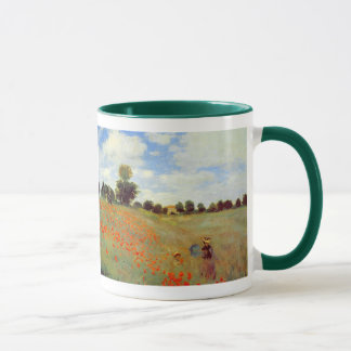Feld der Mohnblumen, Claude Monet Tasse