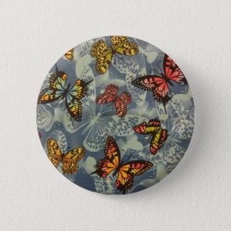 Feld der Schmetterlinge Runder Button 5,7 Cm