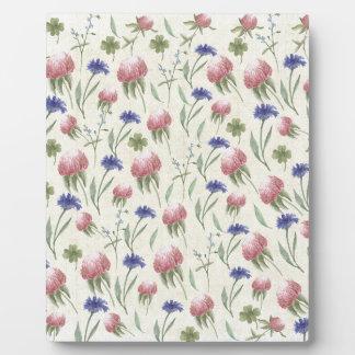 Feld der wilden Blumen Fotoplatte