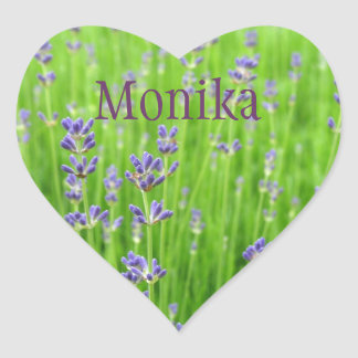 Feld des Lavendels Herz Sticker