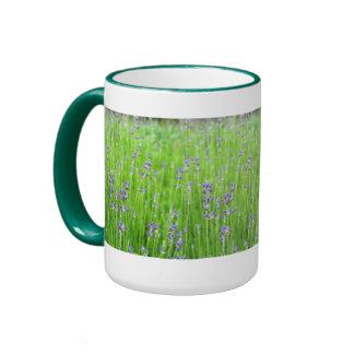 Feld des Lavendels Teetasse