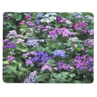 Feld des lila Blumen-Notizbuches Taschennotizbuch