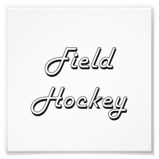 Feld-Hockey-klassischer Retro Entwurf Kunst Fotos