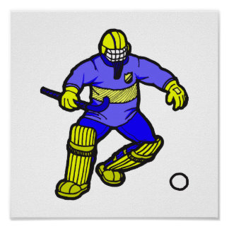Feld-Hockey-Tormann Poster