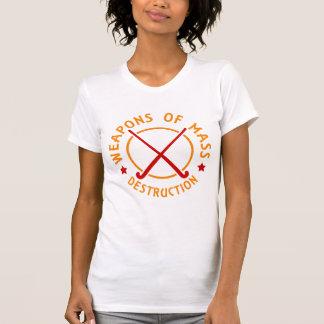 Feld-Hockey-Waffen der Zerstörung T-Shirt