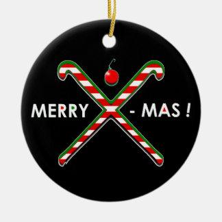 Feld-Hockey-Weihnachten Keramik Ornament