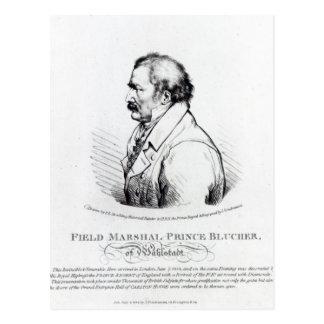 Feld-Marschall-Prinz Blucher von Wahlstadt Postkarte