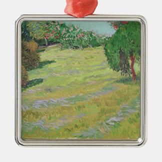 Feld Vincent van Goghs | im Sonnenlicht, 1888 Quadratisches Silberfarbenes Ornament