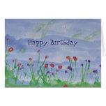 FELD VON Blume-Geburtstag Karte