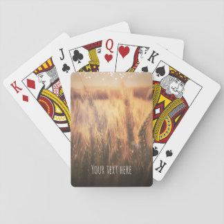 Feld Weizen-der rustikalen Land-Gastgeschenk Spielkarten