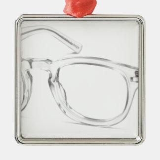 Felder Quadratisches Silberfarbenes Ornament